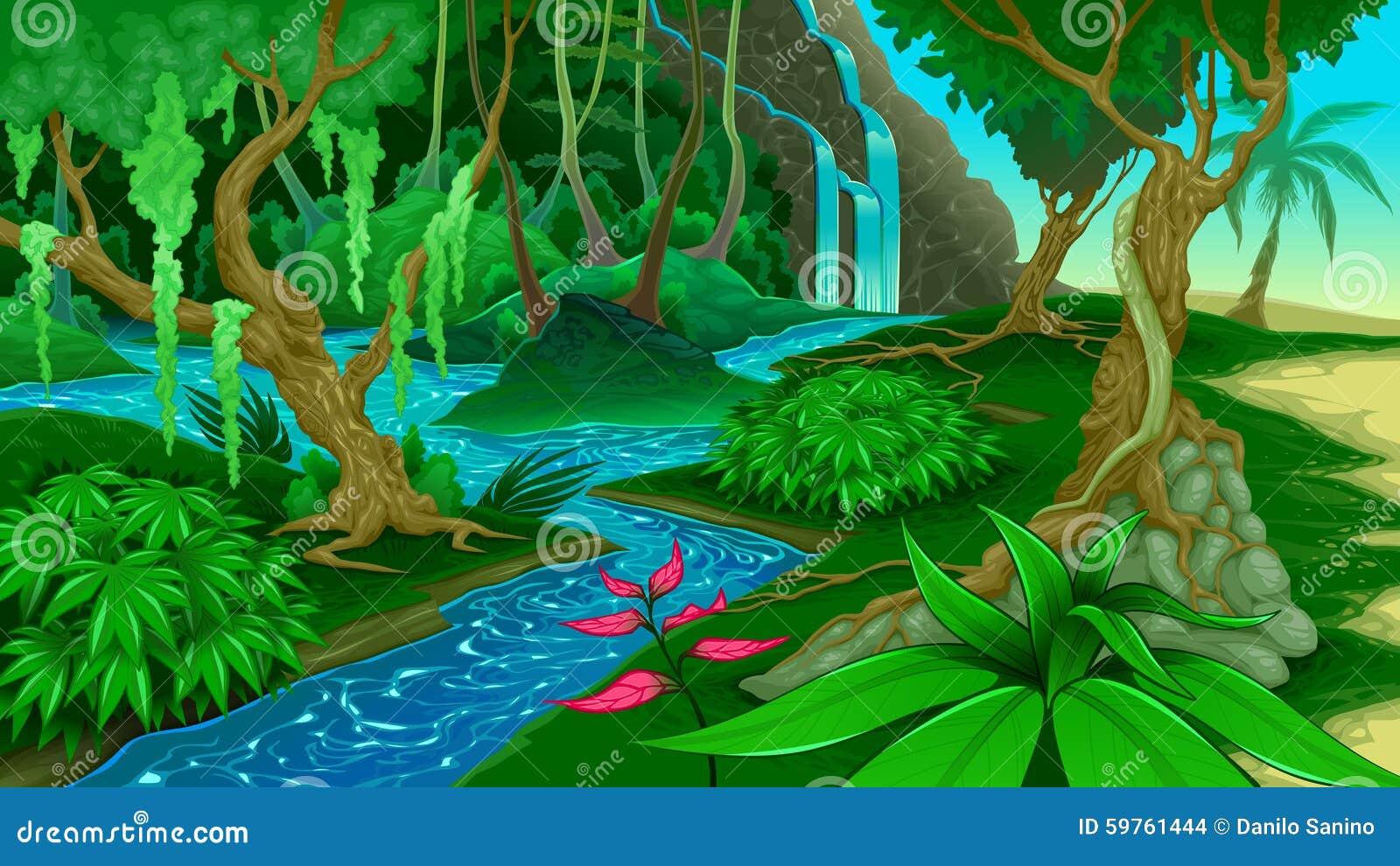 Vue dans la jungle