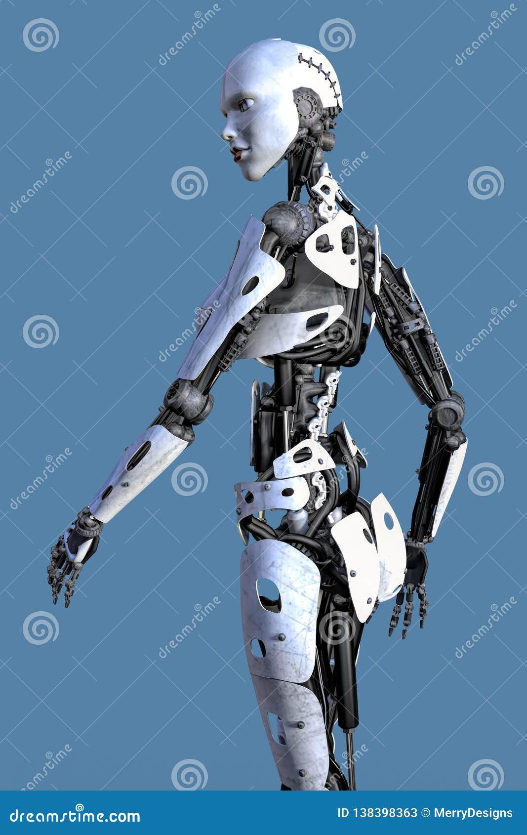Vue de côté d un Robo femelle