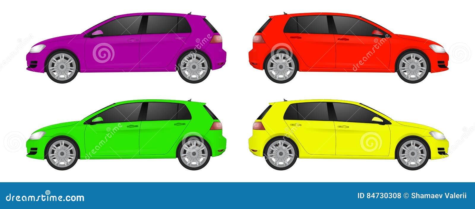Vue de côté d art réaliste superbe de voiture Automobile générique