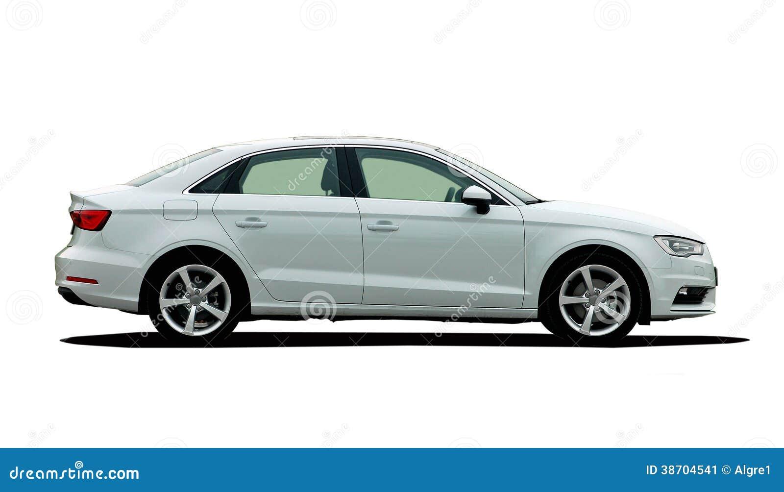 vue de c t de voiture blanche image stock image du quatre vert 38704541. Black Bedroom Furniture Sets. Home Design Ideas