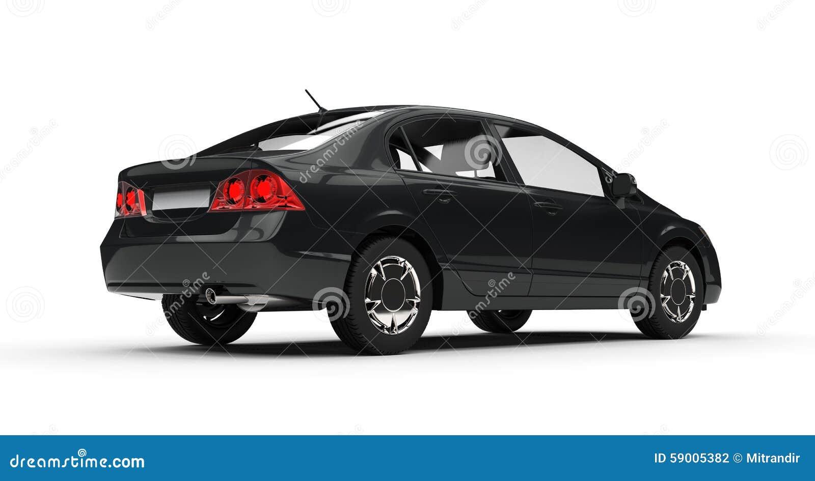 vue de c t de voiture noire d 39 affaires illustration stock. Black Bedroom Furniture Sets. Home Design Ideas