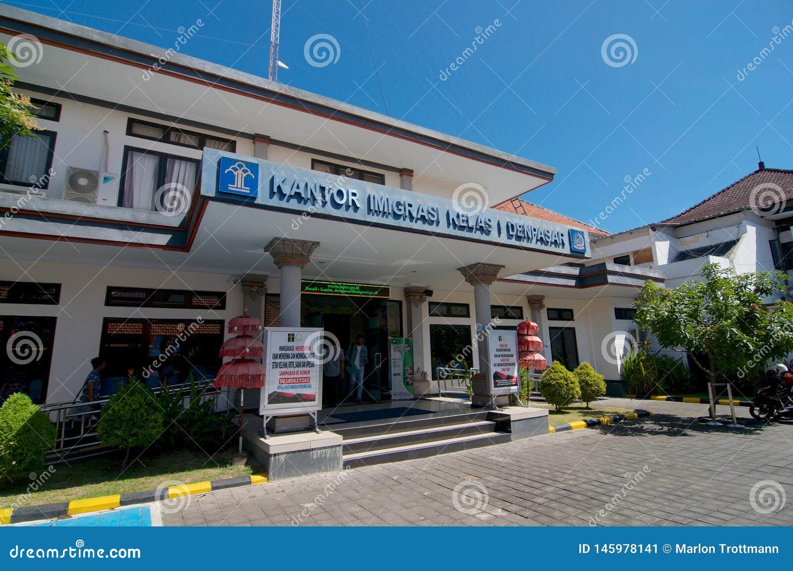 Vue de c?t? de bureau d immigration de Denpasar dans Bali, Indon?sie