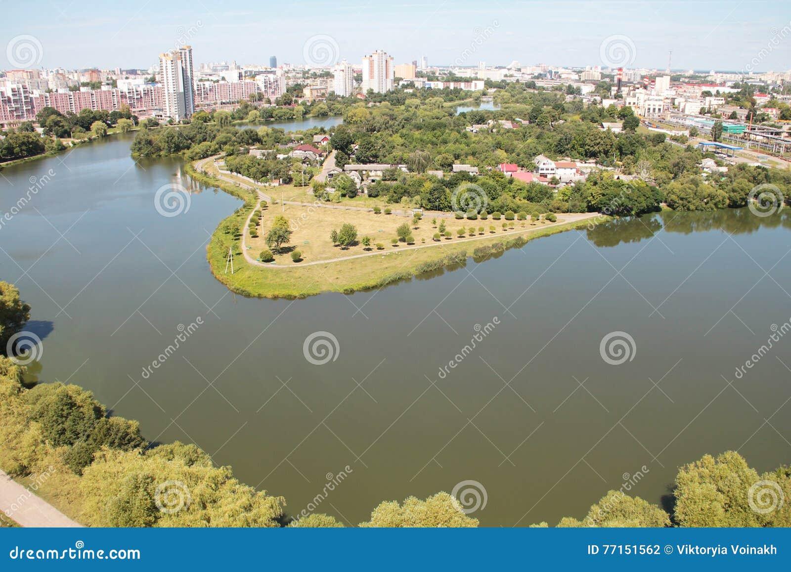 Vue de ciel de Minsk