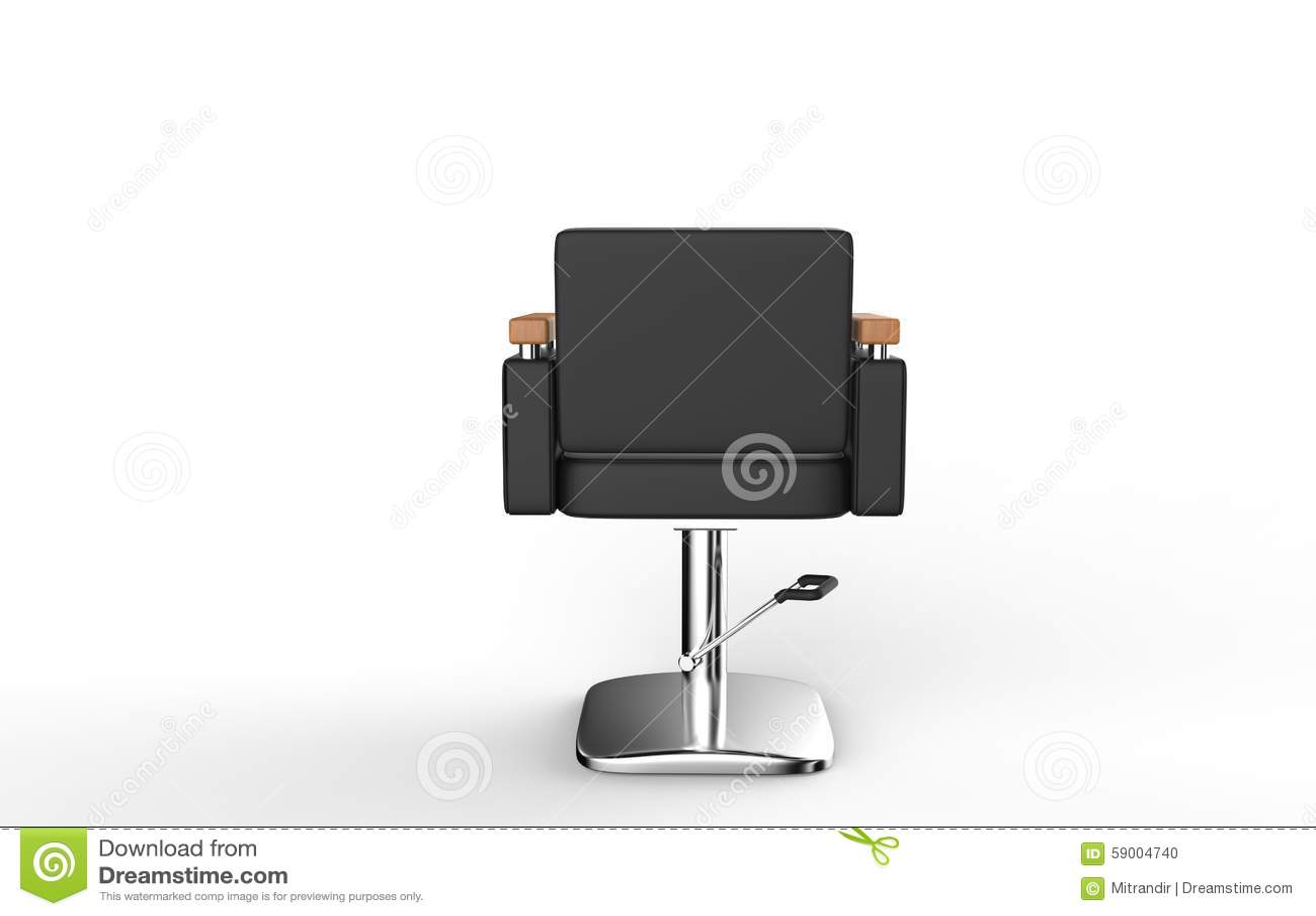 Vue De Dos Chaise Salon Coiffure