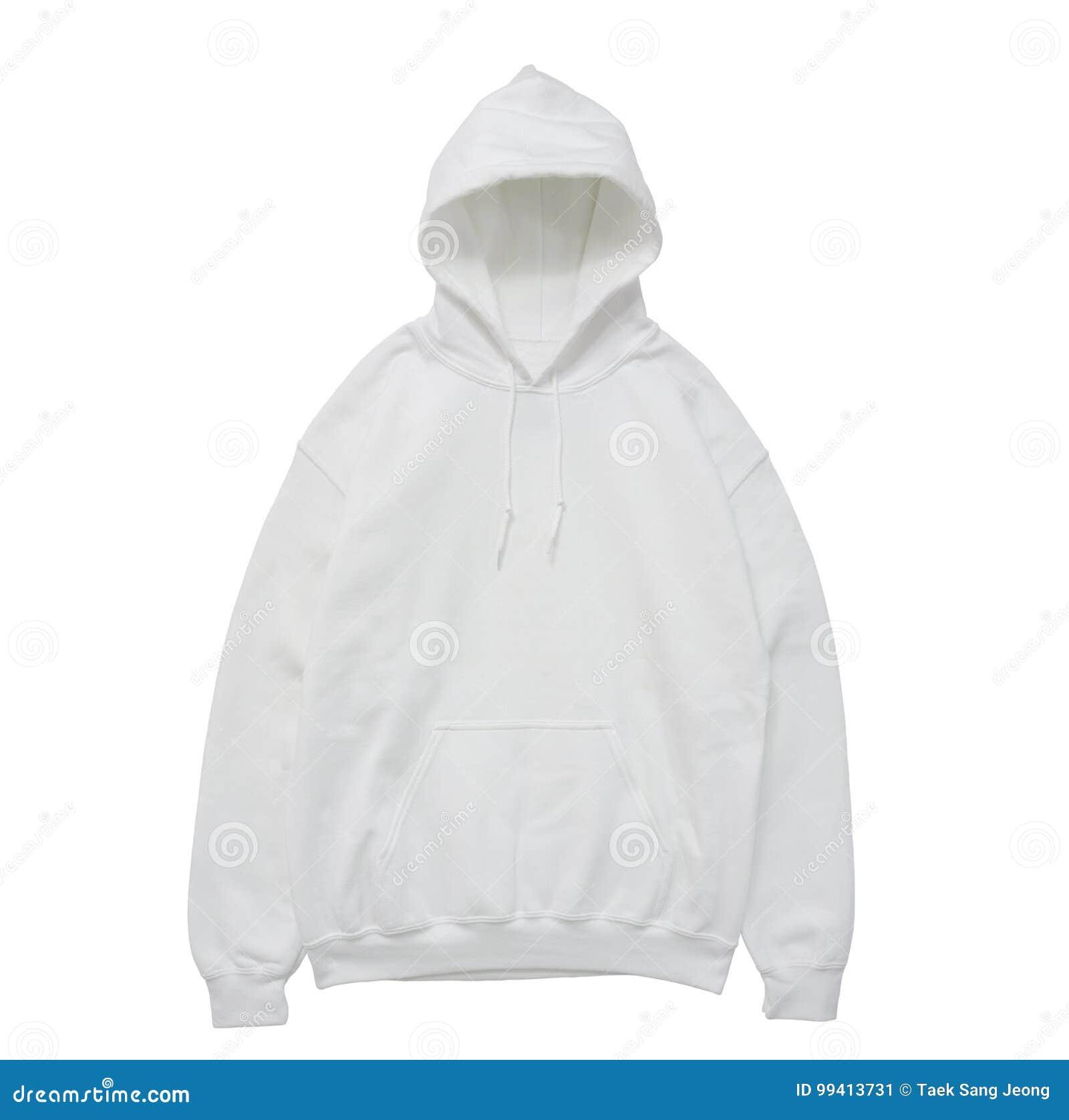 Vue de face blanche de hoodie de couleur vide de pull molletonné