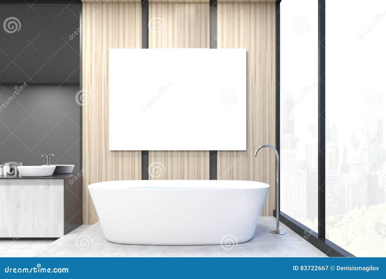 Affiche Salle De Bain ~ vue de face de coin de salle de bains affiche murs l gers