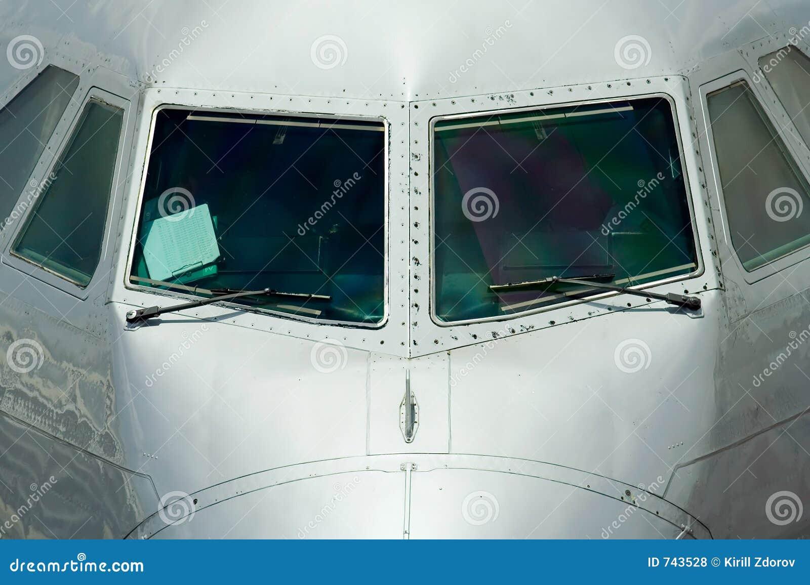 Vue de face du fuselage d un avion