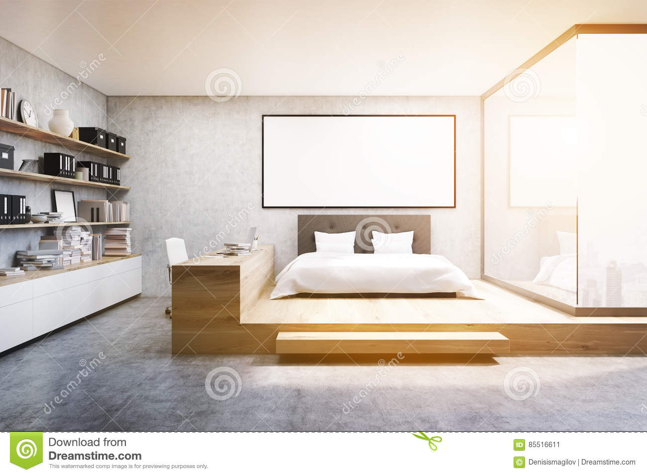 vue de face du si ge social dans la chambre coucher modifi e la tonalit image stock image. Black Bedroom Furniture Sets. Home Design Ideas
