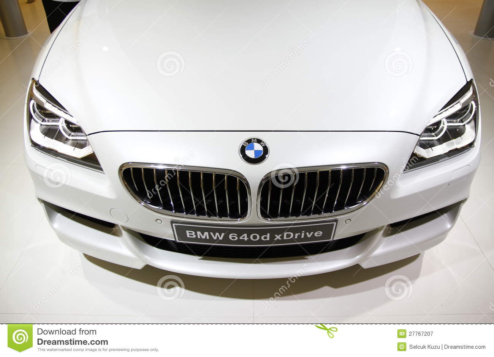 Vue de face xDrive de BMW 640d