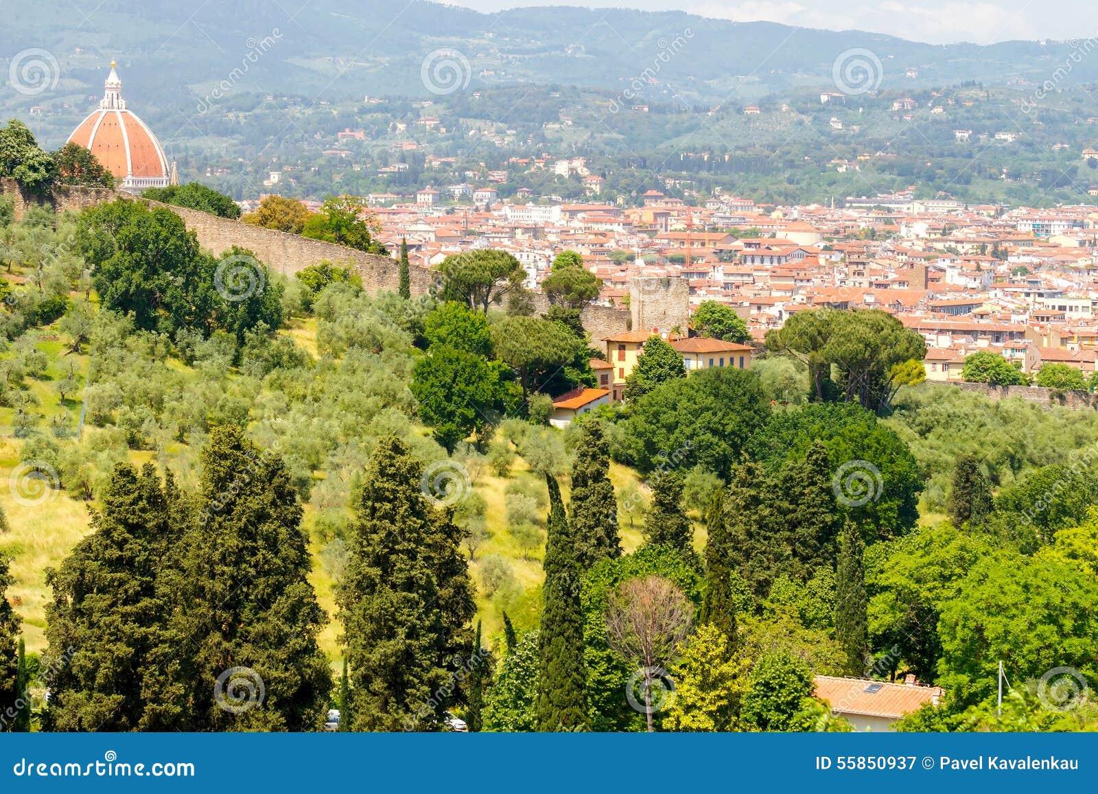 Vue de Florence de belvédère de fort