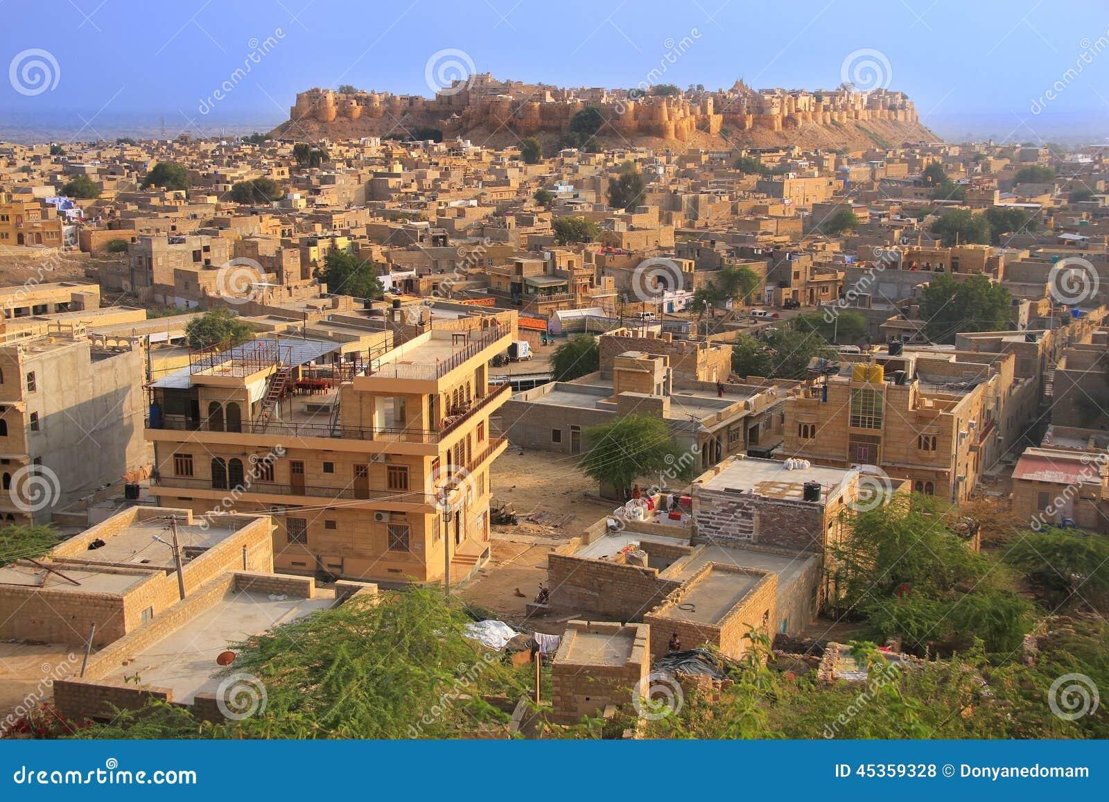 Vue de fort de Jaisalmer et de la ville, Inde