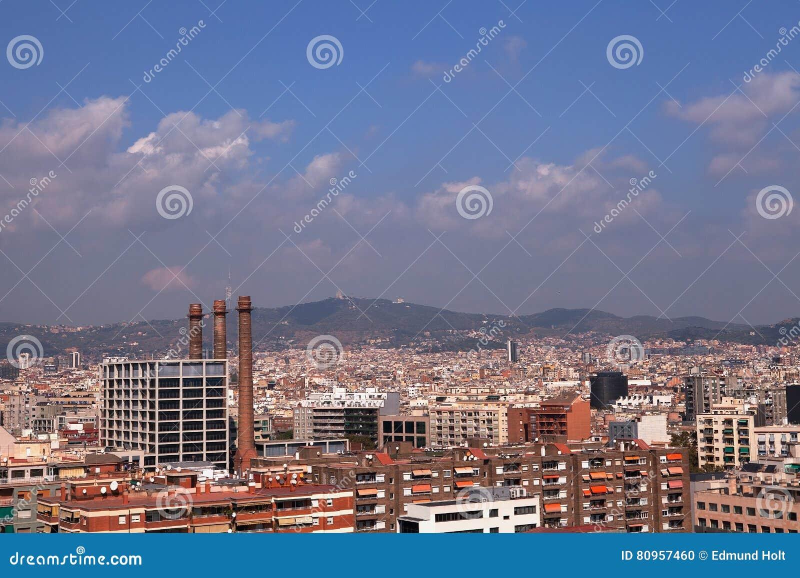 Vue de funiculaire de Montjuic, Barcelone