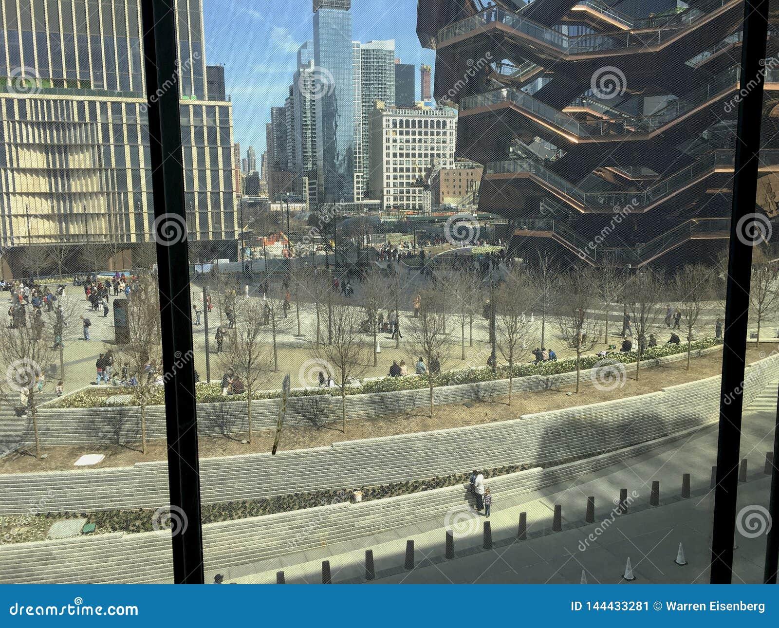 Vue de l écran jeté chez Hudson Yards