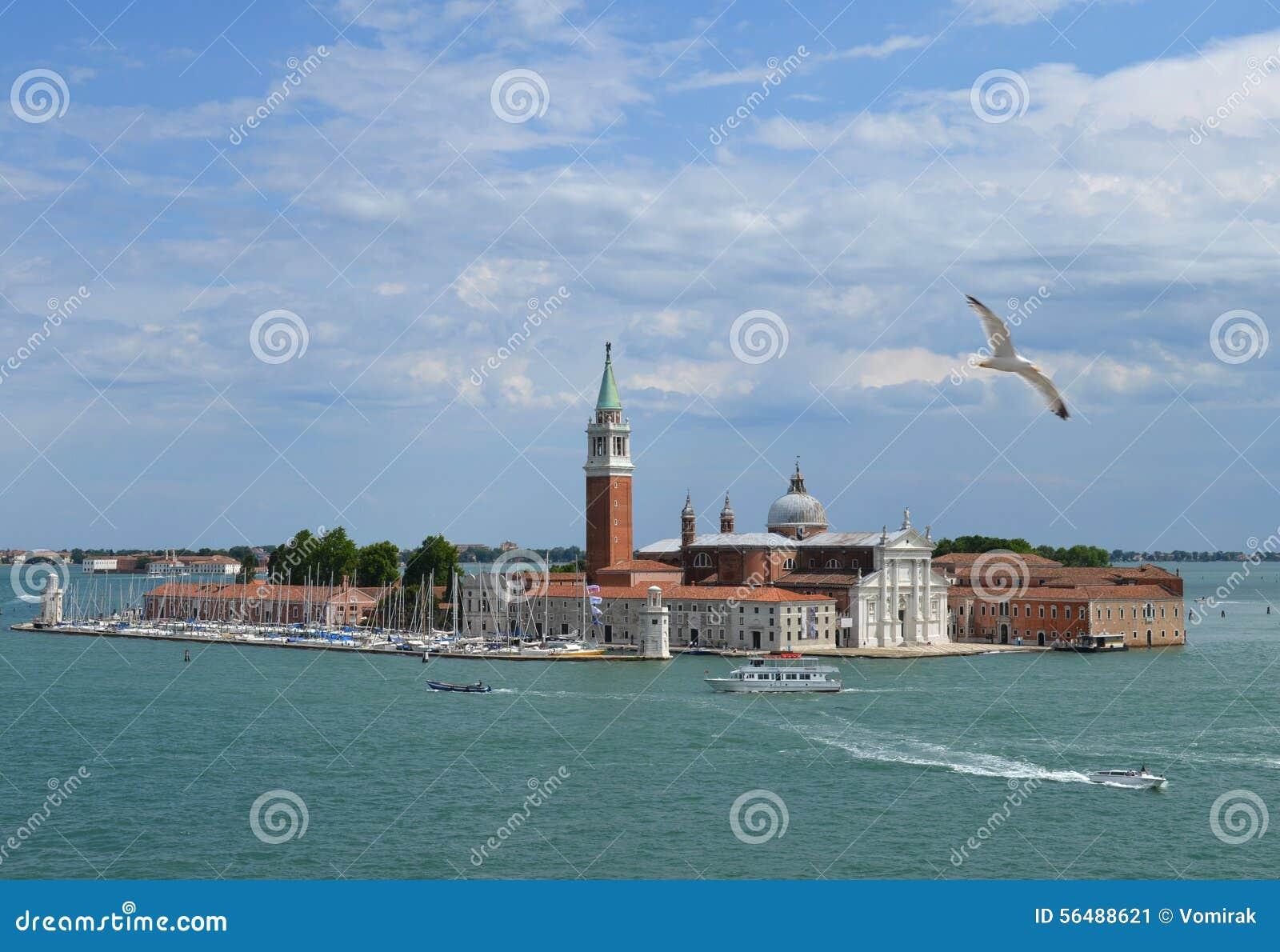 Vue de l île et de la cathédrale de San Giorgio Maggiore, Venise, Italie