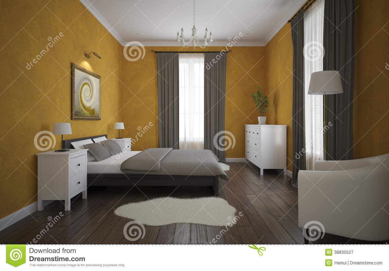 vue de la chambre coucher orange avec le plancher de. Black Bedroom Furniture Sets. Home Design Ideas