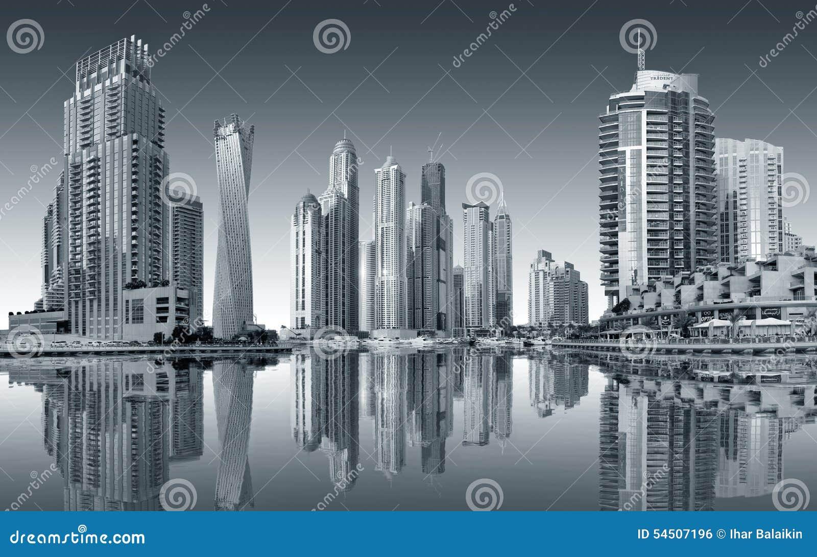 Vue de la région de Dubaï - la marina de Dubaï