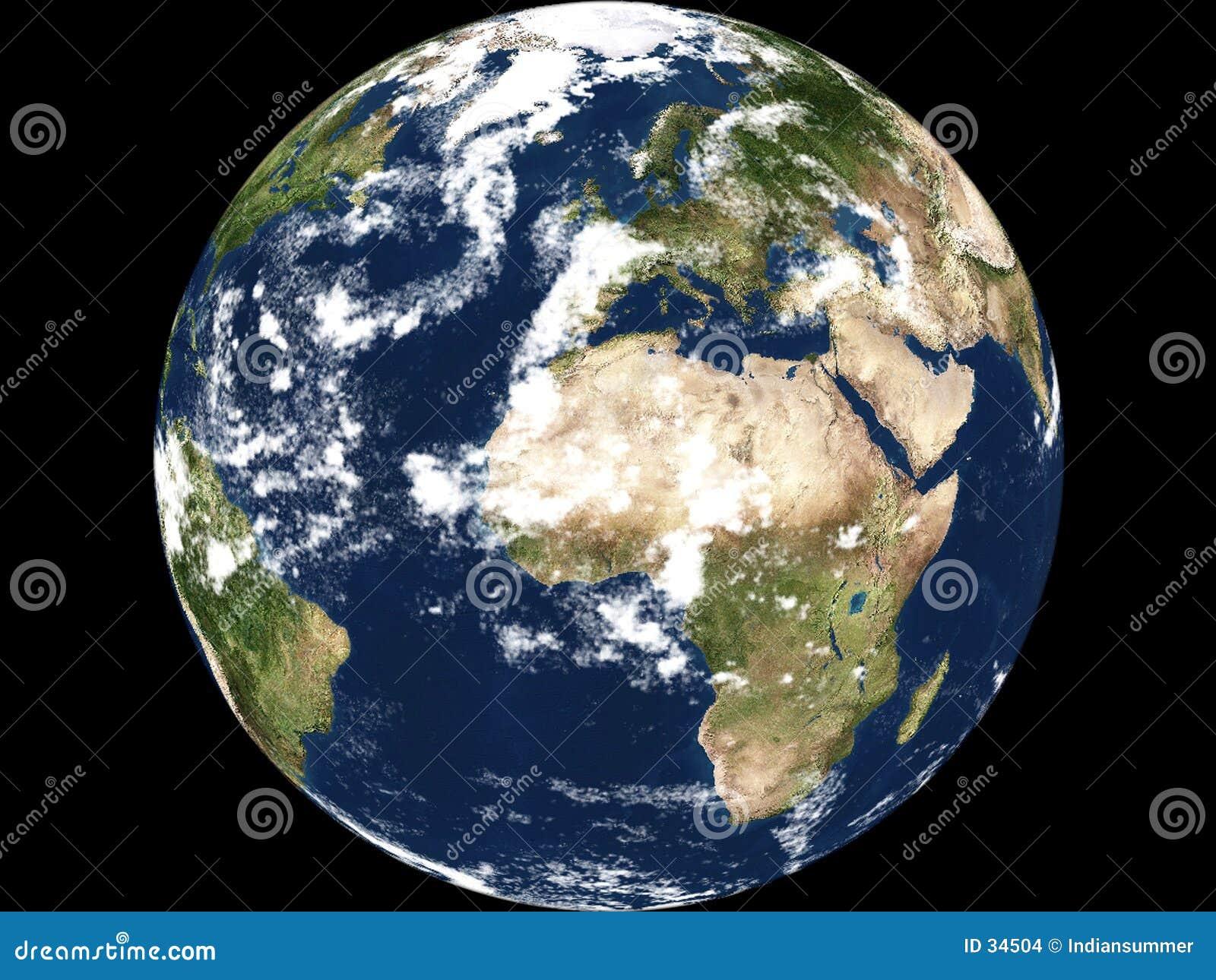Vue de la terre - Afrique