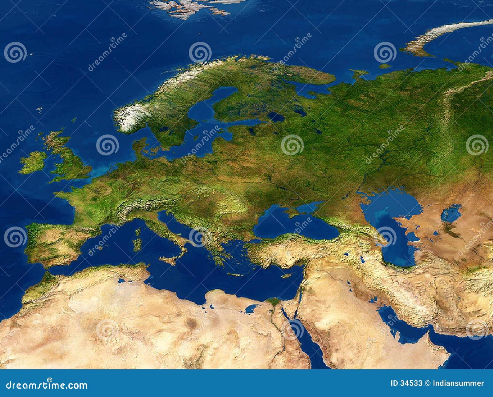 Vue de la terre - carte, l Europe