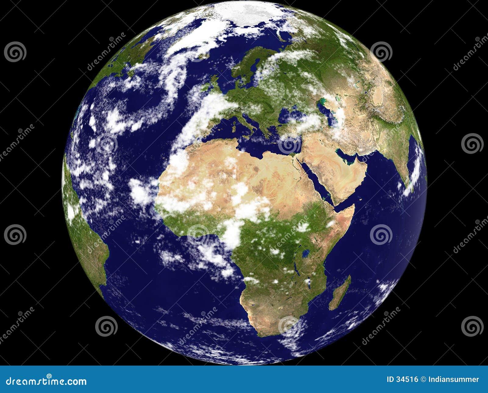Vue de la terre - général