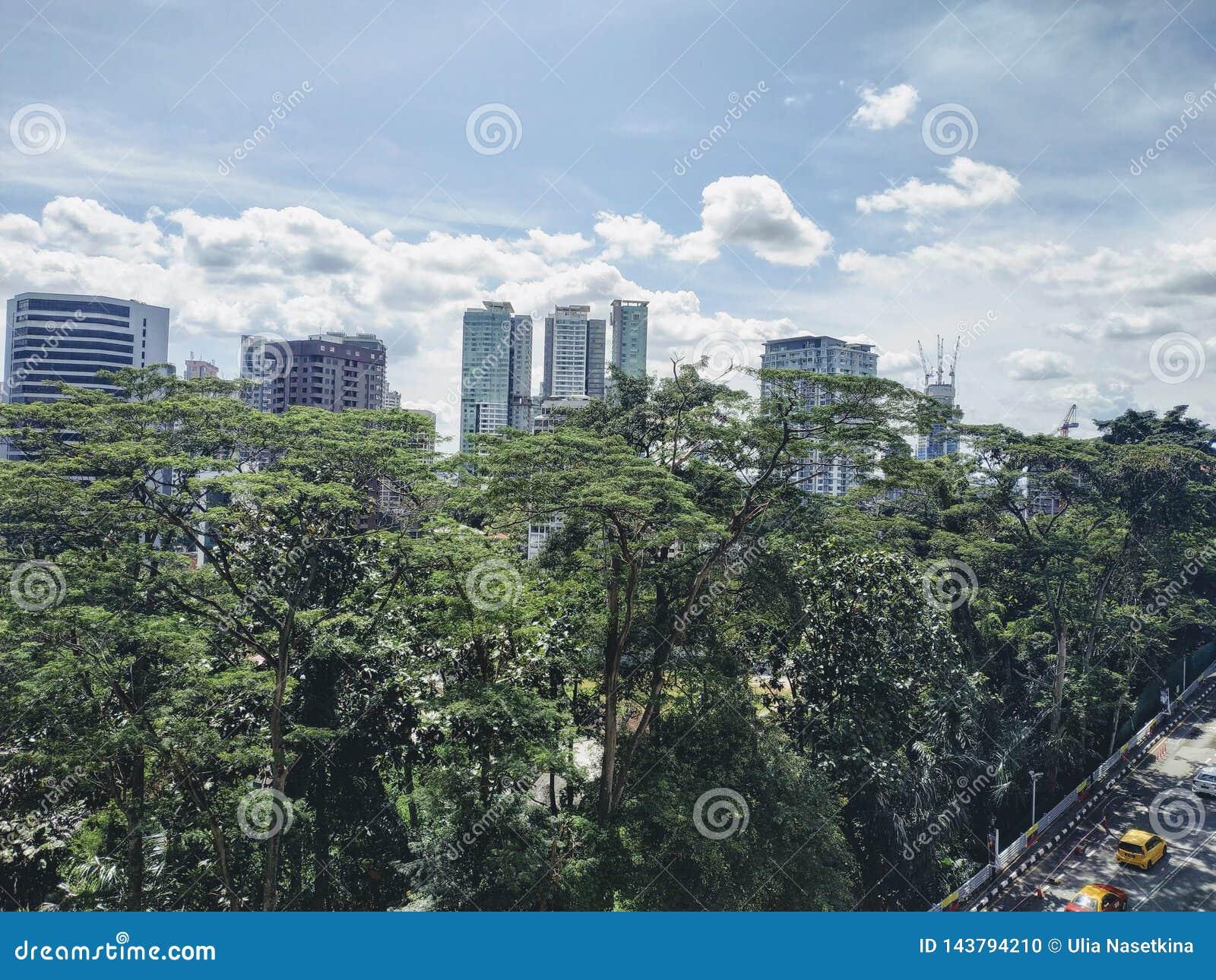 Vue de la ville moderne, Kuala Lumpur