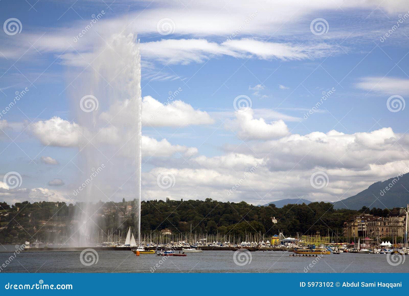 Vue de lac de Genève