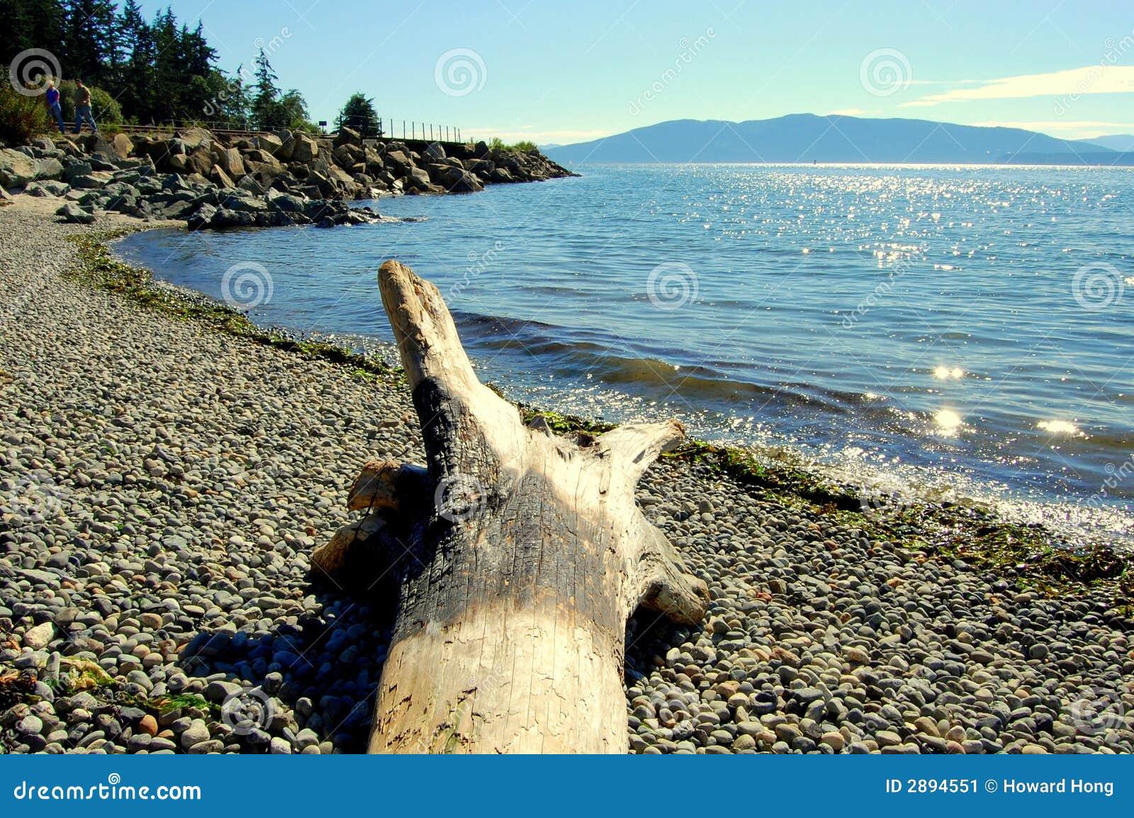 Vue de logarithme naturel et de lac (hyperfocale)