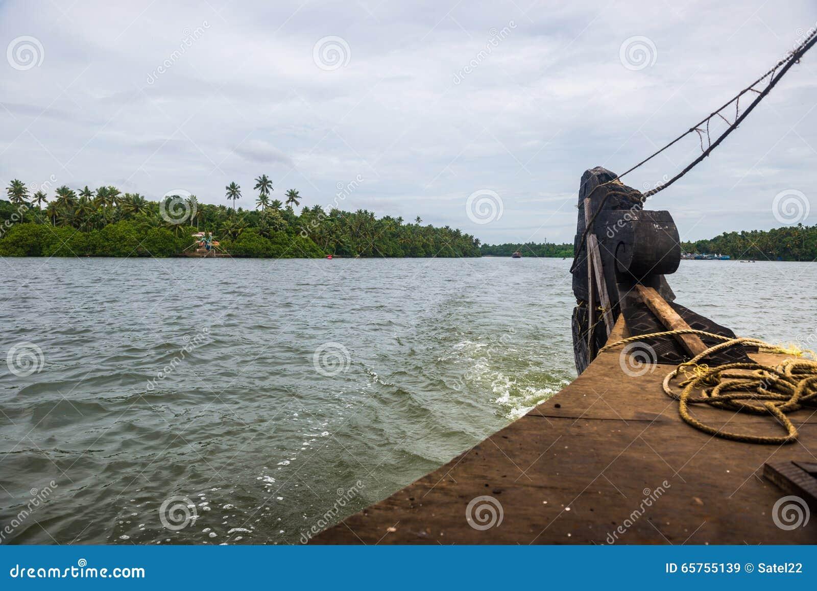 Vue de mer de bateau