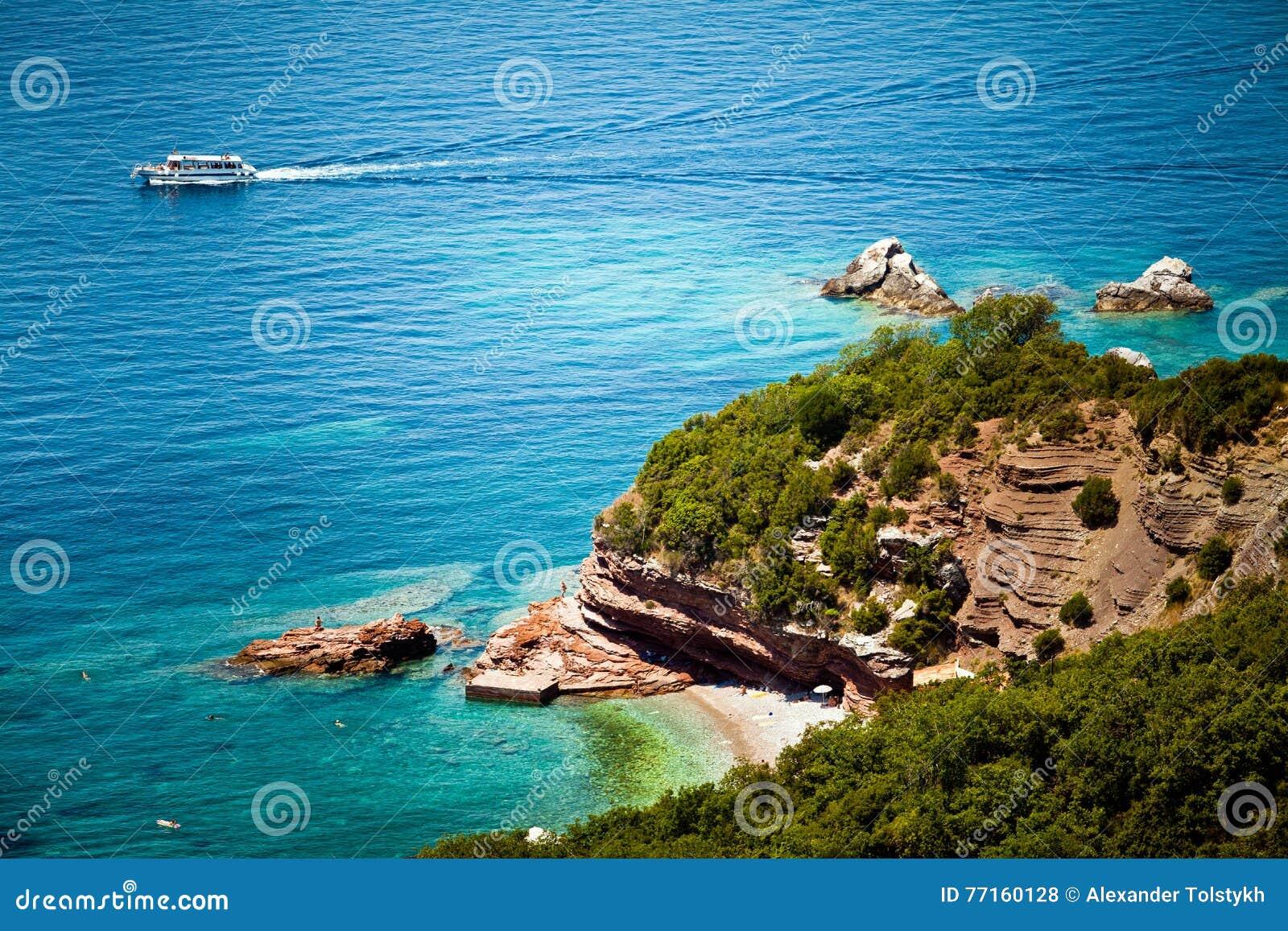 Vue de mer et de plage