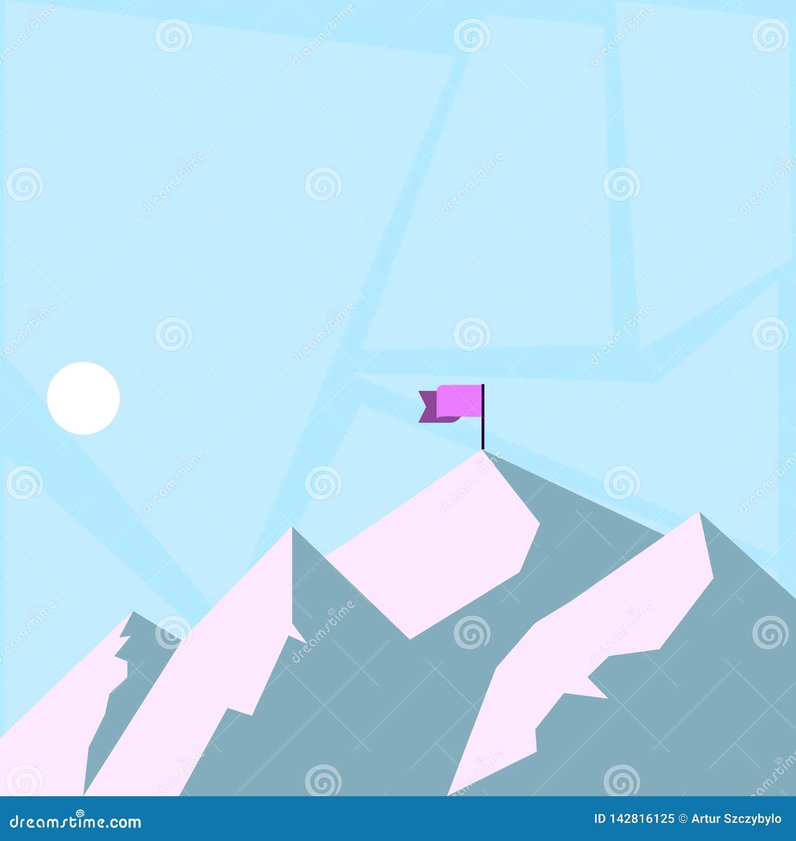 Vue de montagne et de collines avec l ombre indiquant la bannière d heure et de drapeau sur une des crêtes Autour de la lune ou d