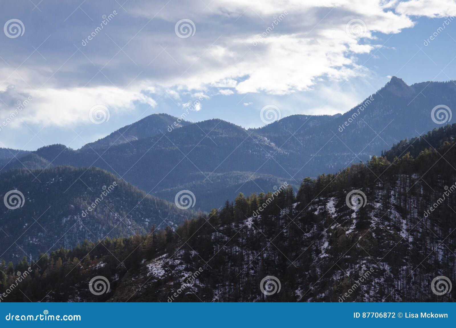 Vue de montagne le Colorado de Cheyanne