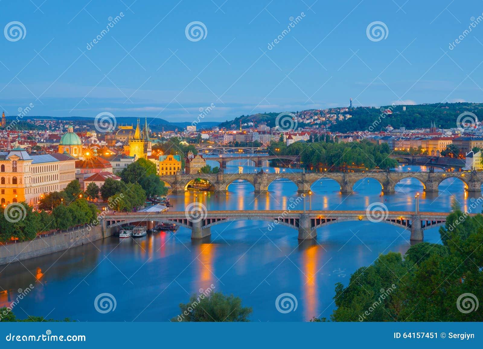 Vue de nuit Prague