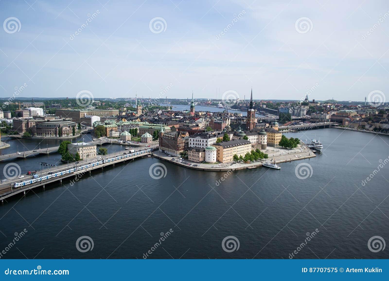 Vue de panorama de Stockholm