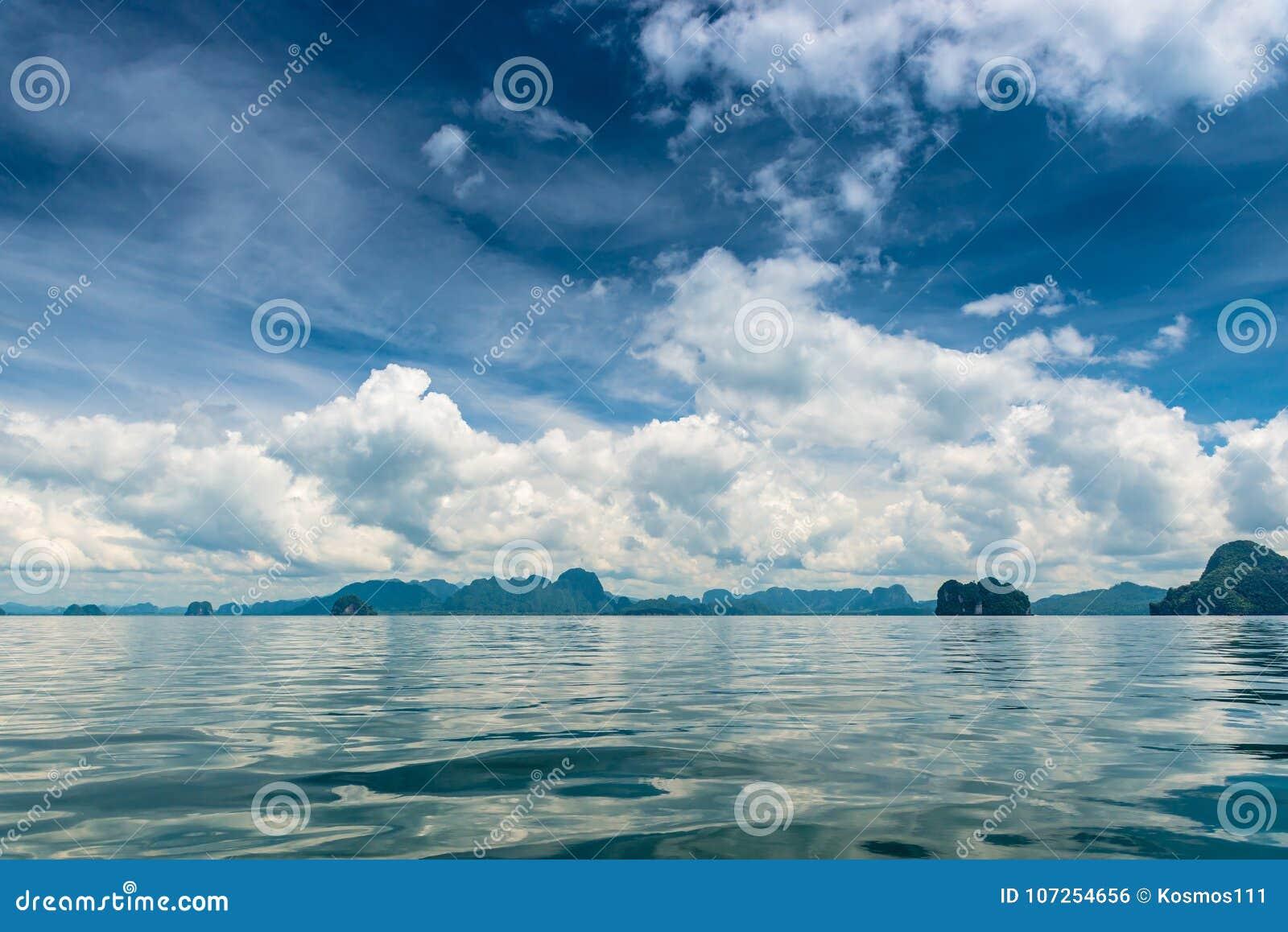 Mer Thailande Carte.Vue De Paysage De Carte Postale De La Belles Thailande Mer
