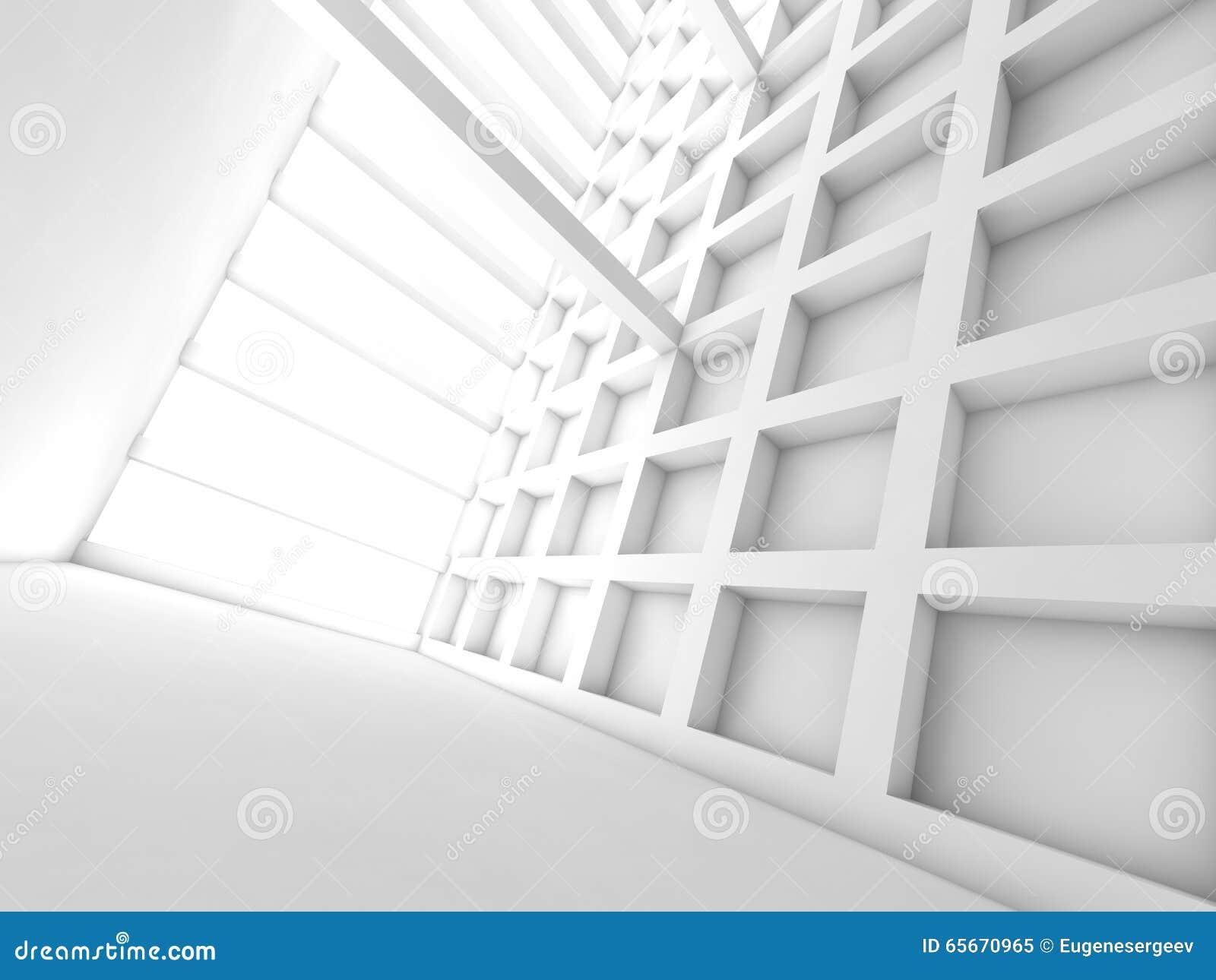 Vue De Perspective De Pièce Vide, Illustration 3d Illustration Stock ...