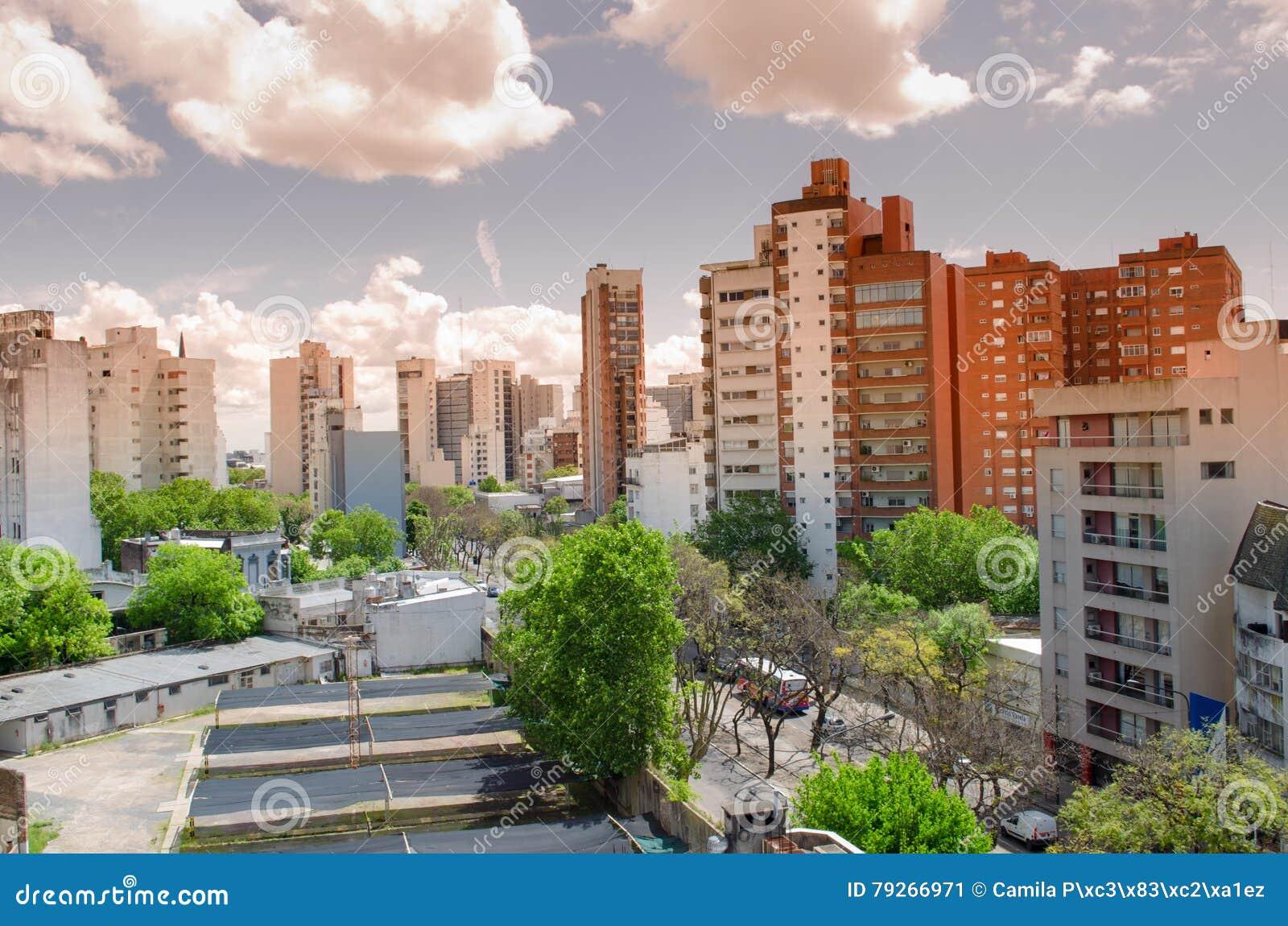 Vue de petite ville
