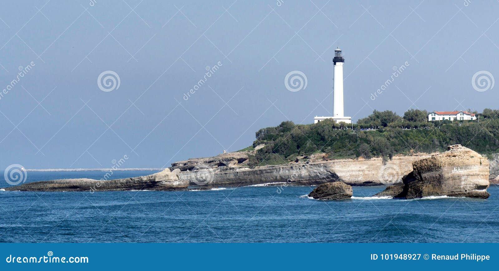 vue de phare de biarritz image stock image du. Black Bedroom Furniture Sets. Home Design Ideas