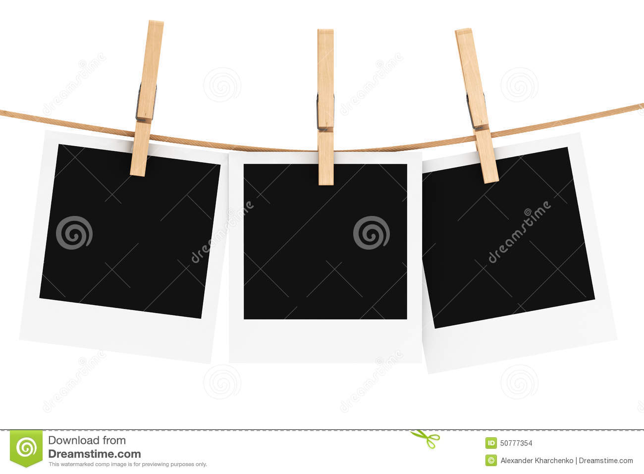 vue de photo avec la pince linge illustration stock image 50777354. Black Bedroom Furniture Sets. Home Design Ideas
