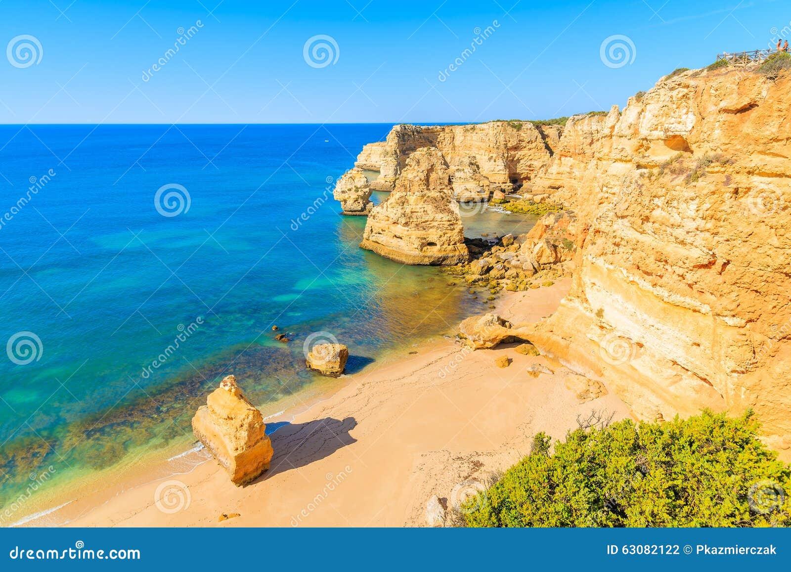 Download Vue De Plage Célèbre De Marinha Photo stock - Image du destination, seascape: 63082122