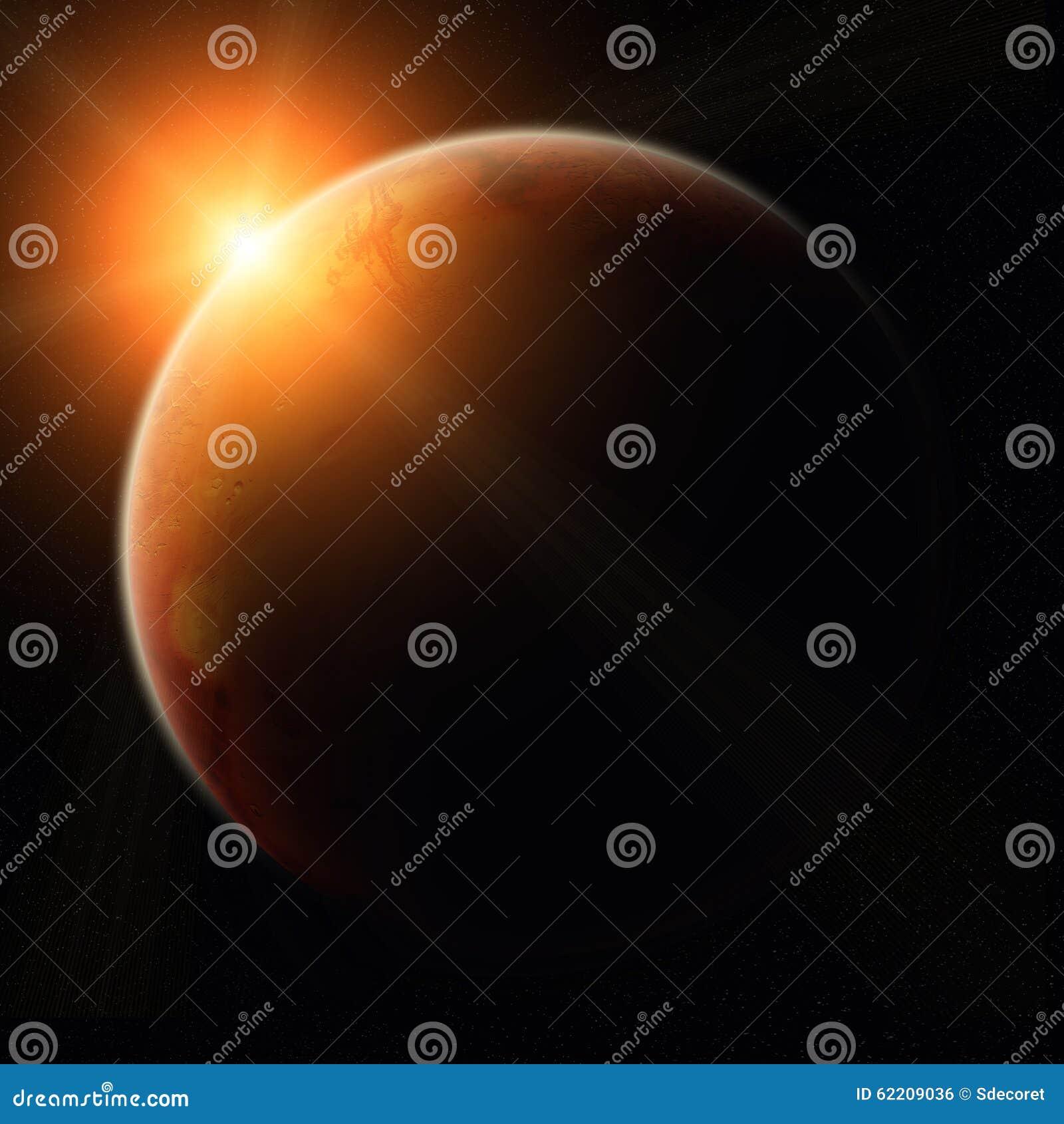 Vue de planète Mars