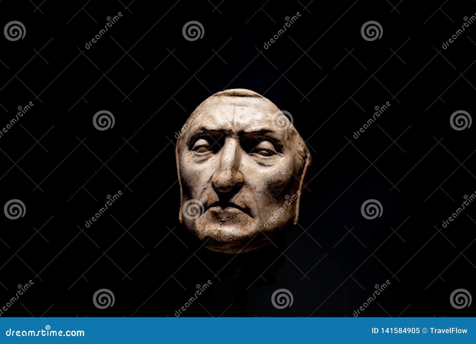 outlet produits de qualité style attrayant Vue De Plan Rapproché De Masque De Mort De Dante Alighieri ...