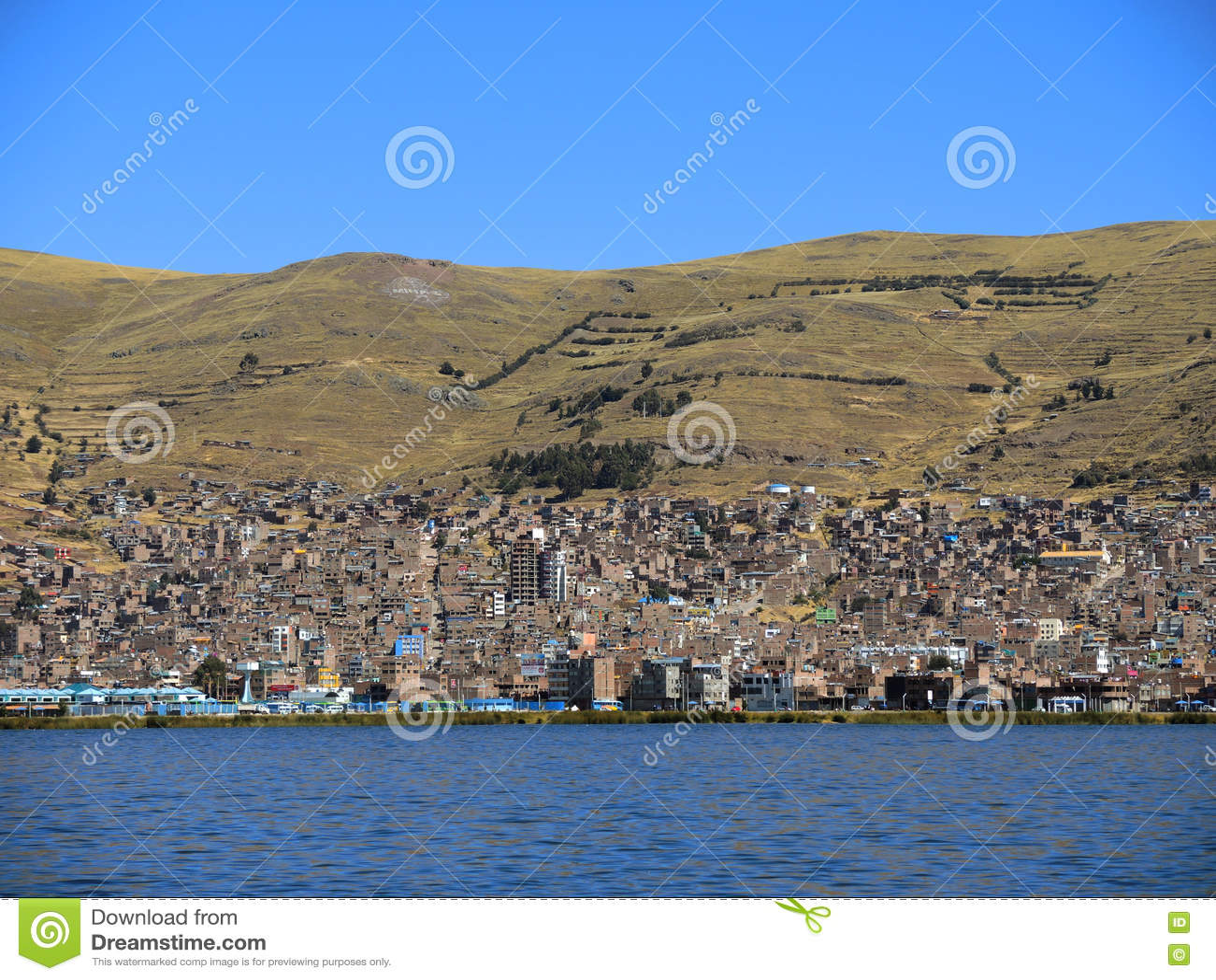 Vue de Puno, Pérou