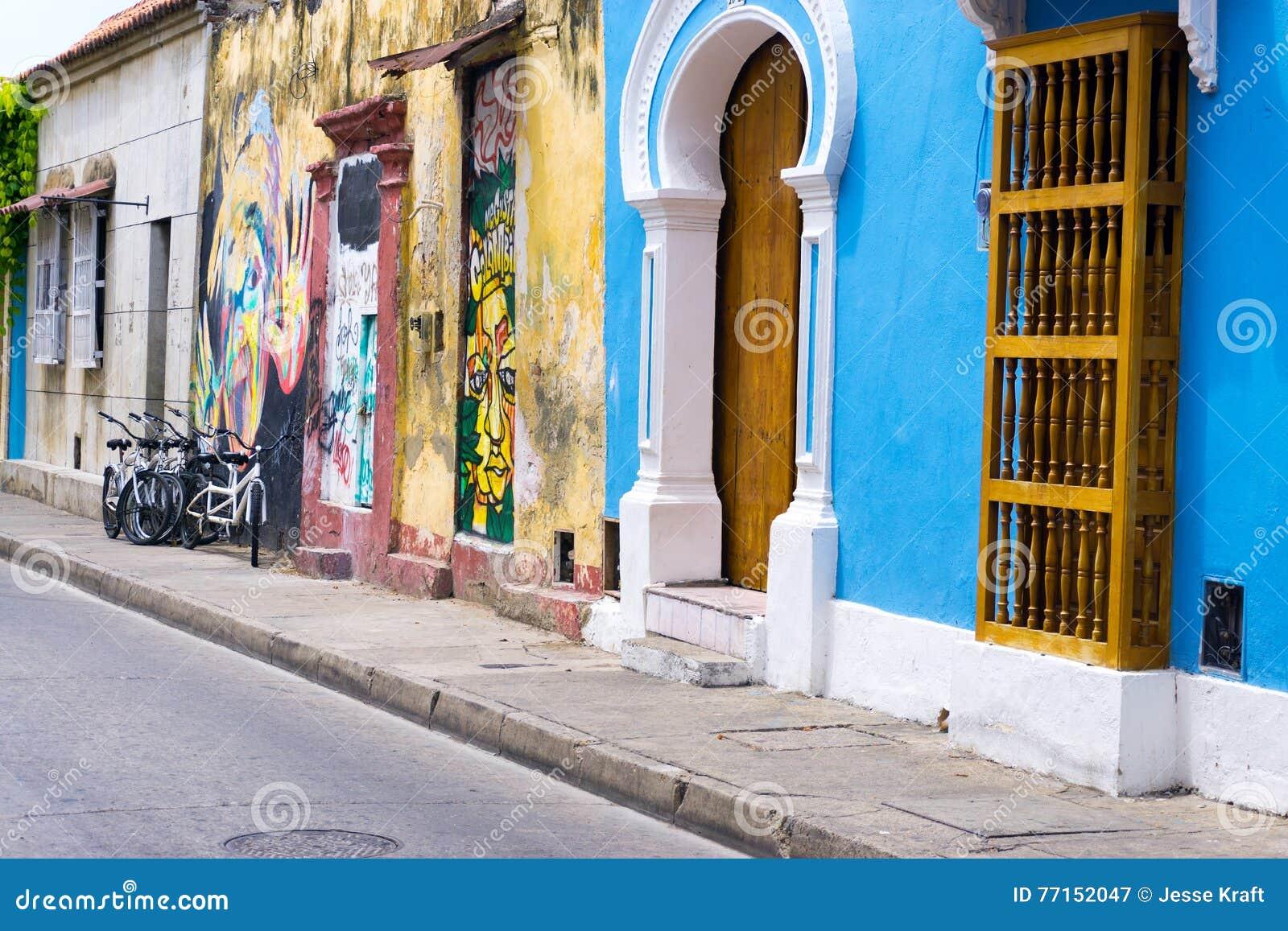 Vue de rue de Carthagène Colombie