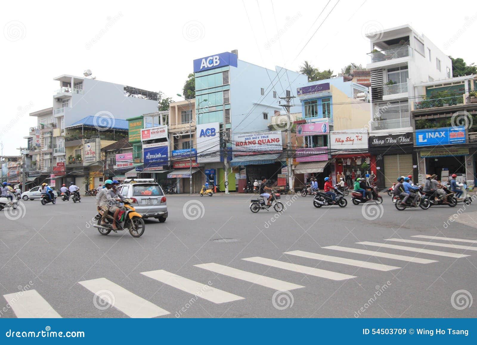 Vue de rue de Nha Trang
