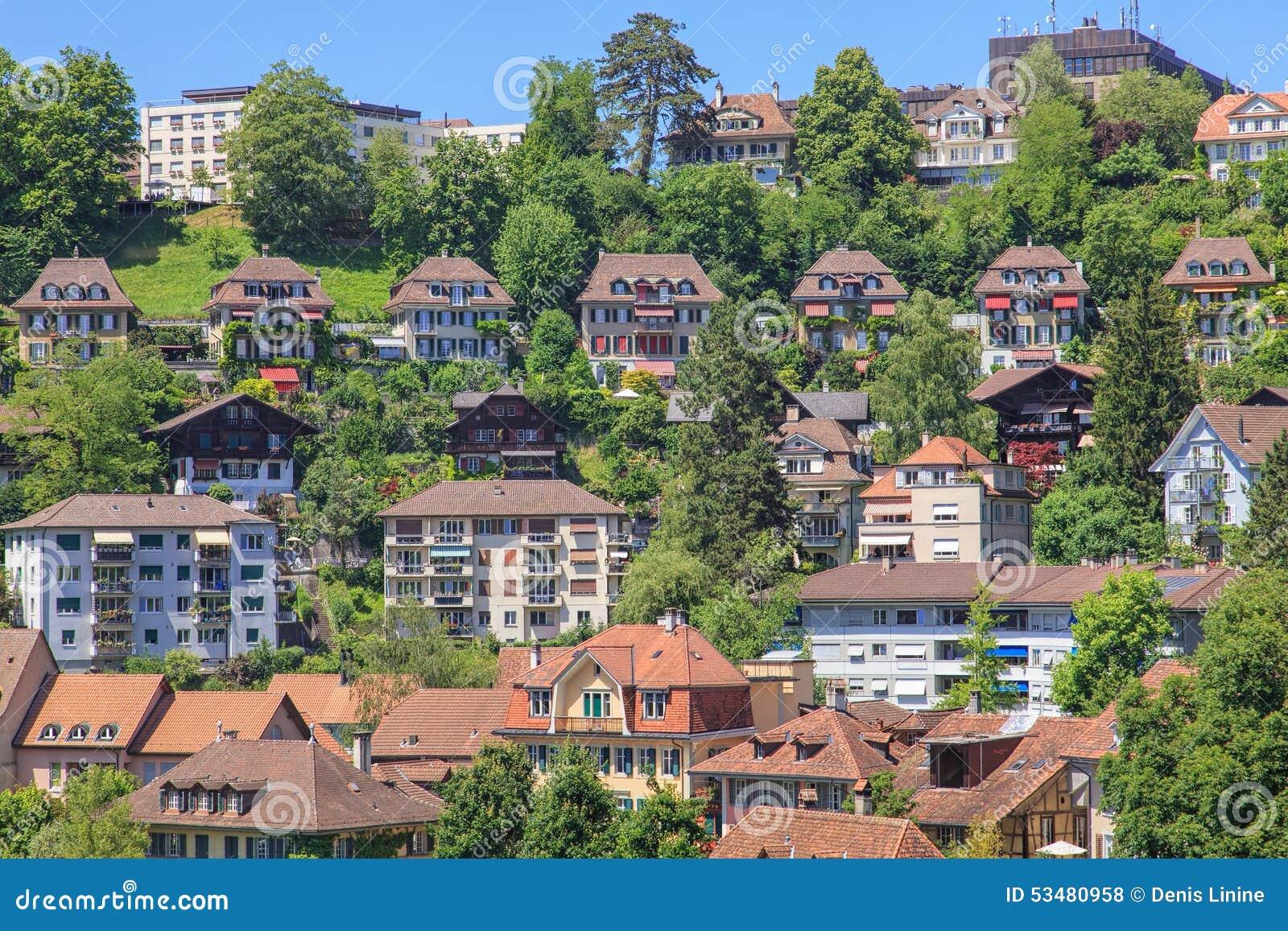 Vue de suisse de nydeggkirche de nydeggbruecke de nydegg for Paysage de ville