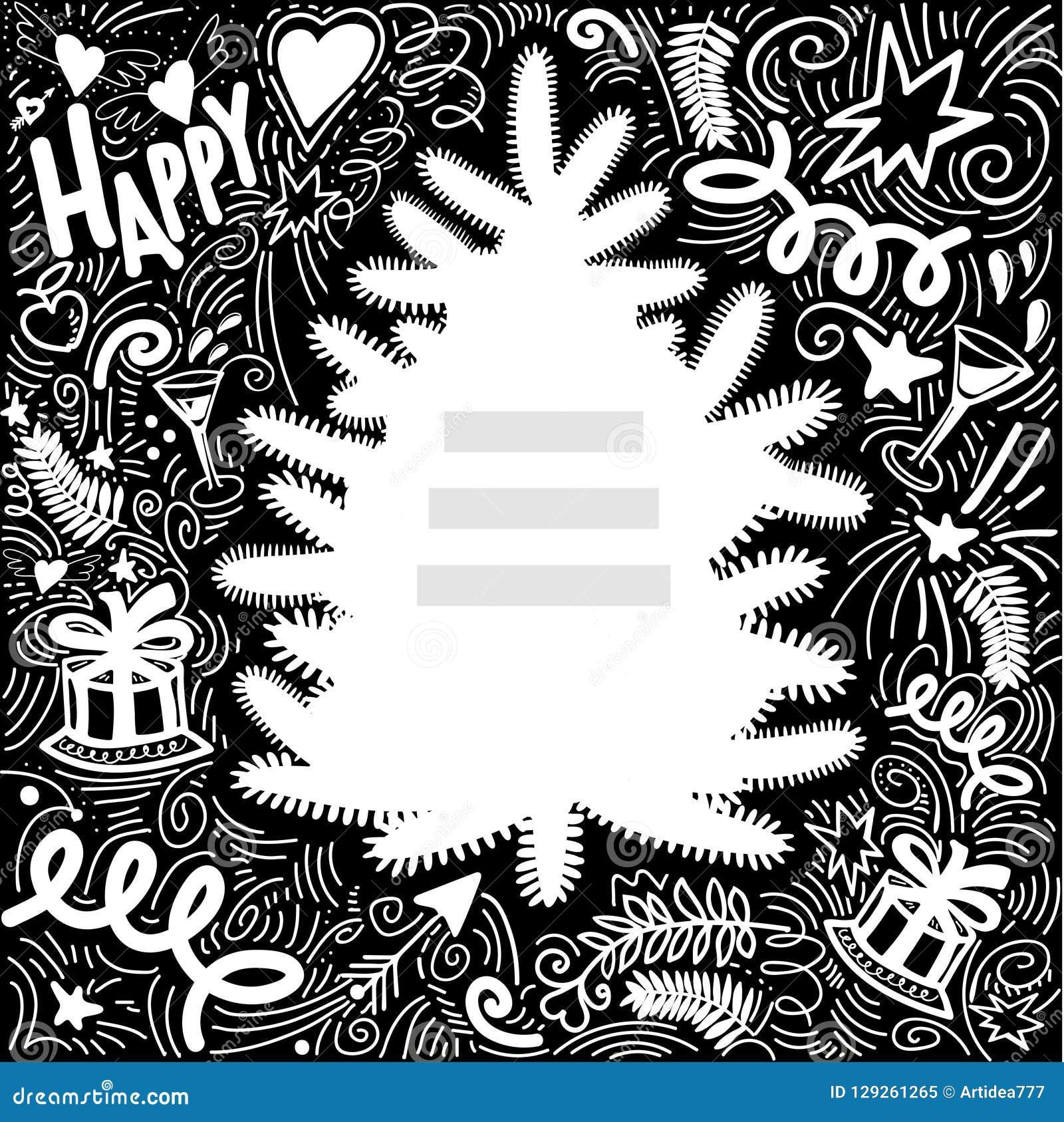 Vue de tableau pour des félicitations avec la silhouette de l arbre