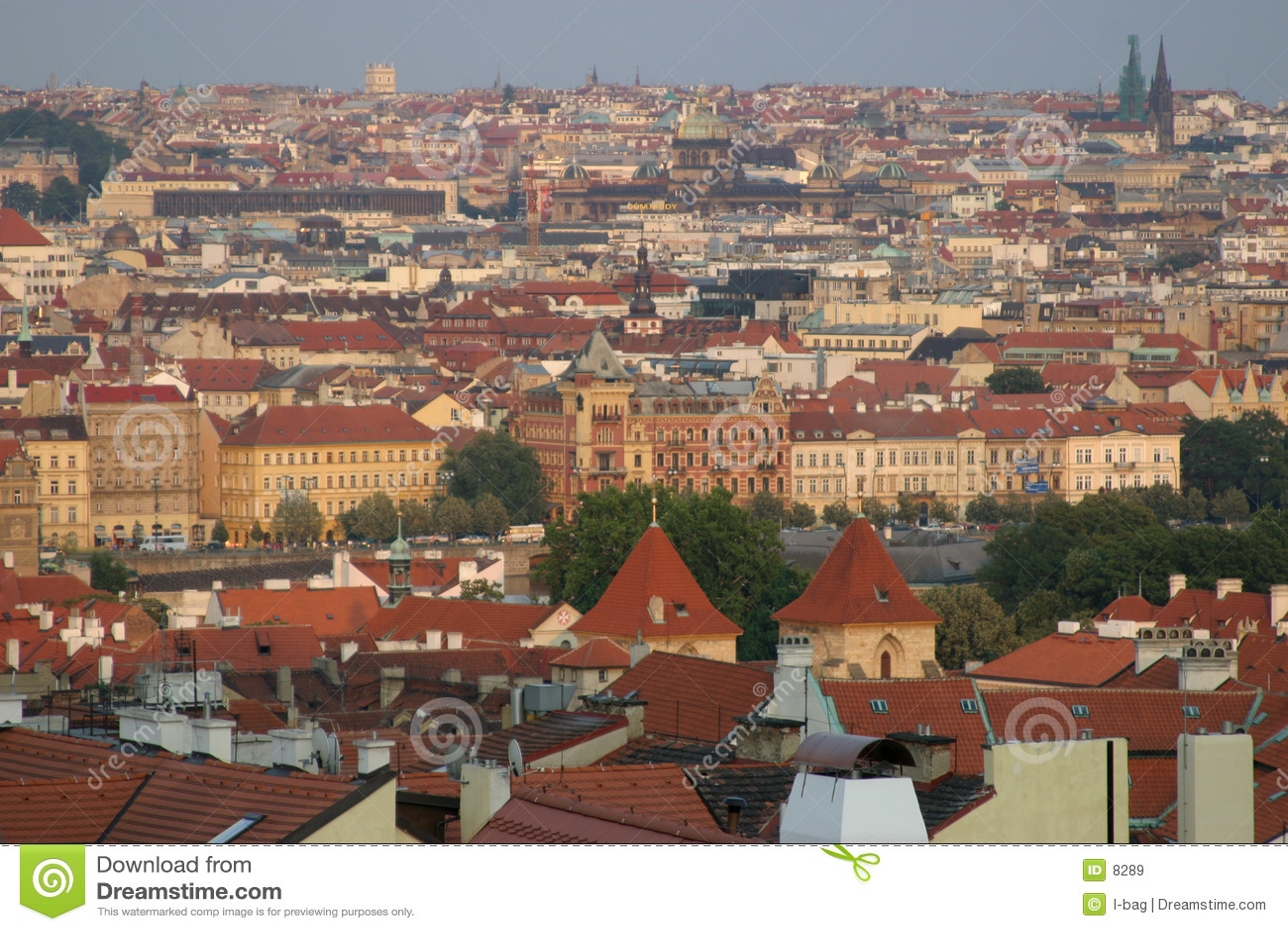 Vue de toit de Prague