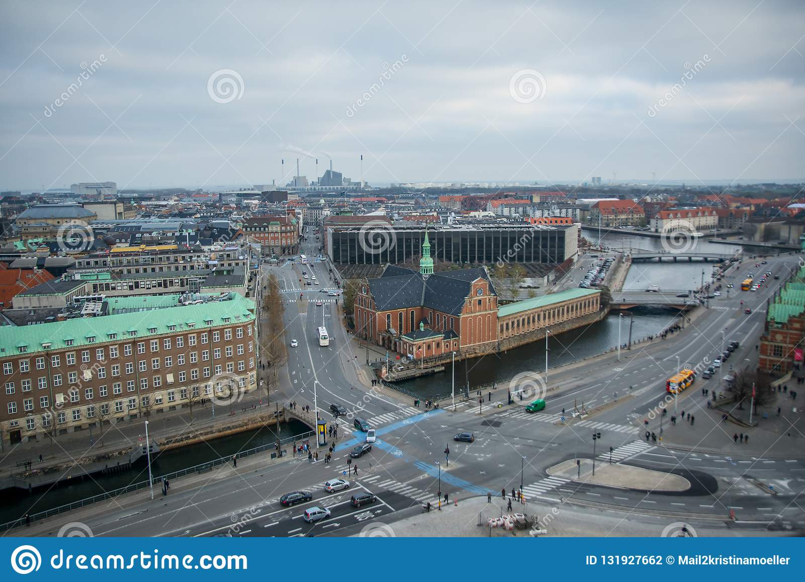 Vue de tour de Christiansborg copenhague denmark