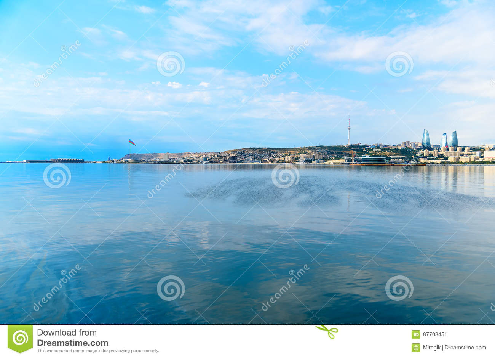 Vue de ville de Bakou