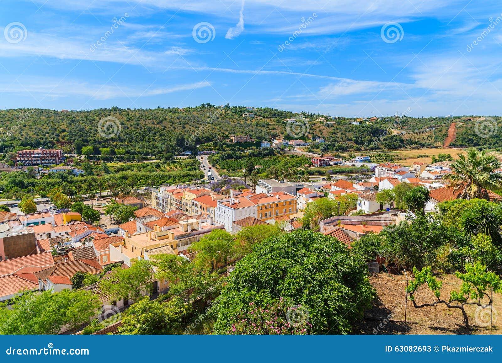 Download Vue De Ville De Silves Avec Les Maisons Colorées Image stock - Image du cathédrale, cityscape: 63082693