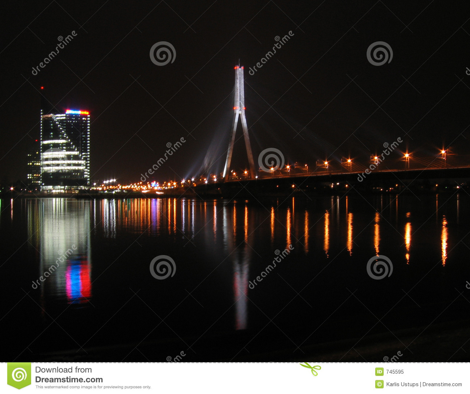 Vue de ville la nuit